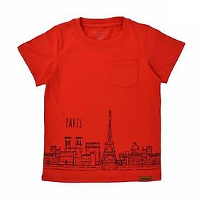 Áo phông bé trai in Paris Ardilla 02BS18 - Đỏ