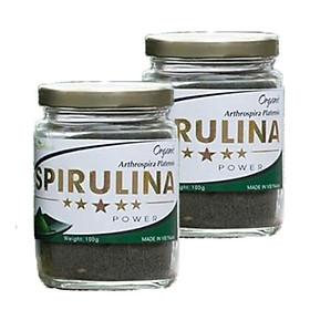 2 Thực phẩm dinh dưỡng Tảo Spirulina Hộp 100g - Dành dành cho người lớn