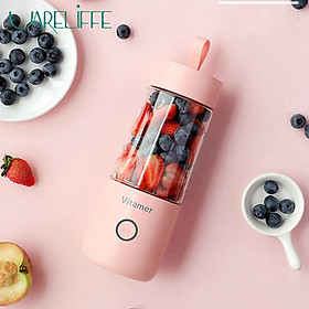 Uareliffe 350ml Electric Juicer Fruit Cup Mini USB Blender Rechargeable Fruit Mixer Quick Juicing Kitchen Food Processor Juice Cup Vegetables Mixer Cup Automatic Fast Juicing Juicer For Kitchen Travel