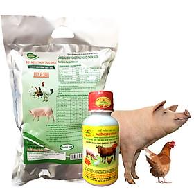 COMBO Chế phẩm sinh học VƯỜN SINH THÁI và Men ủ vi sinh thảo dược BIO-MEN cho Chăn Nuôi gia súc gia cầm. Không cần đun nấu. Không mùi hôi chuồng trại. Vỗ béo nhanh. Hiệu quả ngay sau 5-7 bữa ăn