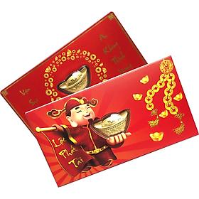 Lì xì nén vàng phủ vàng 24K quà tặng mỹ nghệ KBP DOJI DJDELIXI1218