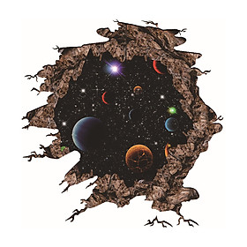 Three-Dimensional Stickers Planets Wallpaper Brightly Coloured 70*50cm Moon Decoration Gift