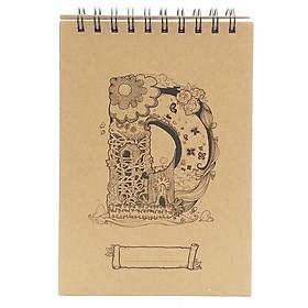 Sổ Sketchbook Alphabet - Hình Chữ D