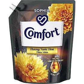 Nước Xả Làm Mềm Vải Comfort Chăm Sóc Chuyên Sâu Hương Nước Hoa Thiên Nhiên Sophia túi 3.8L