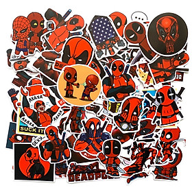 Bộ 50 Sticker Deadpool (2020) Hình Dán Đỏ Đen Chủ Đề Anti Hero Bựa Hài Hước Vui Vẻ Chống Nước Decal Chất Lượng Cao Trang Trí Va Ly Du Lịch Xe Đạp Xe Máy Xe Điện Motor Laptop Nón Bảo Hiểm Máy Tính Học Sinh Tủ Quần Áo Nắp Lưng Điện Thoại