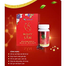 Viên uống Đẹp Da (BeautySAM) - Da sáng bóng, nhẵn mịn, hồng hào từ bên trong một cách tự nhiên, nâng cao thể trạng, thải độc và thanh lọc cơ thể, Cải thiện nội tiết tố nữ