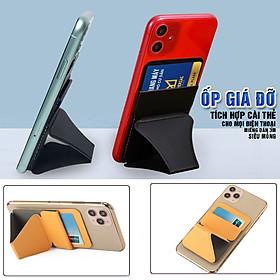 Ốp dán điện thoại kiêm giá đỡ, tích hợp khe cài thẻ và máy tính bảng, siêu mỏng, chất liệu da, Dan House MOFT X All-Hàng chính hãng