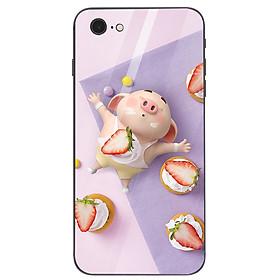 Ốp kính cường lực dành cho điện thoại iPhone 7/8 - heo hồng - hh157 - hàng chất lượng cao