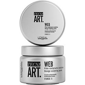 Sáp vỗ L'oreal Tecni Art Web Design sculpting paste Force 5 tạo kiểu tóc 150ml