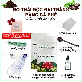 Bộ Thải Độc Đại Tràng Bằng Cà Phê Hữu Cơ - Liệu Trình 30 Ngày ( Coffee Enema )