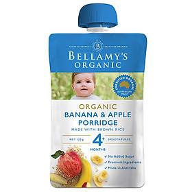 Hỗn Hợp Chuối, Táo, Yến Mạch Hữu Cơ Xay Nhuyễn Bellamy's Organic