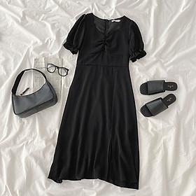 IELGY French retro split dress