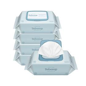 Combo 5 khăn giấy ướt BEBESUP Sensitive Baby 80 (gói 80 tờ)