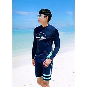 Đồ Bơi Nam Tay Dài - Nam Xanh Hot