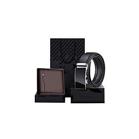 Bộ quà tặng ví + thắt lưng cao cấp - túi hộp như hình phù hợp làm quà tặng