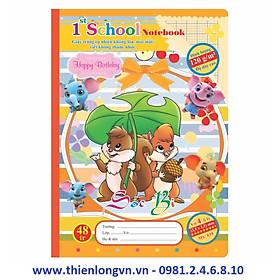 KLONG   Vở 4 ô ly Chích Bông - 48 trang; Klong 039 bìa cam