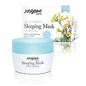 Mặt Nạ Ngủ Với Gigawhite Và Collagen Nagano 30g - Sleeping Mask Nagano 30g - Thành phần Collagen và Gigawhite  giúp làm trắng và trẻ hóa làn da