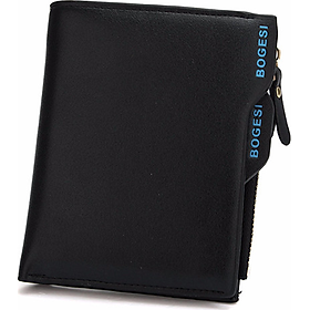 Bóp da nam BOGESI loại đứng BD153 - Màu đen