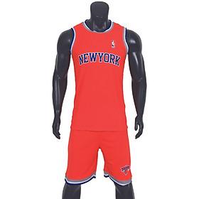 Bộ quần áo bóng rổ New York - Cam