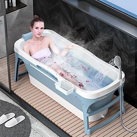 Bồn tắm cao cấp người lớn gấp gọn có thể làm bể bơi cho bé
