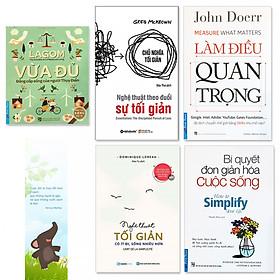 Combo 5 quyển sách về lối sống tối giản (Tặng kèm bookmark voi)
