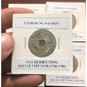 Xu lỗ vuông Cảnh Hưng Đại Bảo, vua Lê Hiển Tông, Hậu Lê Việt Nam (1740-1786)
