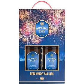 Rượu Whisky Imperial Blue 500ml + 500ml 29.5% - Phiên Bản Hộp Quà Tết 2021