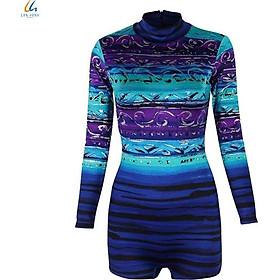 Đồ bơi liền mảnh nữ Lan Hạnh áo tay dài quần shorts nhiều màu 30032-XD206