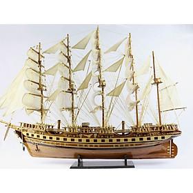 Mô hình tàu thuyền France II thân 80cm  loại 1 gỗ tự nhiên MNV-TB02