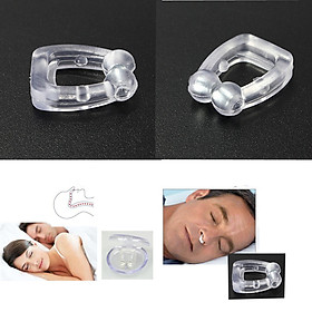 New Safe Stop Snoring Anti Snore Magnetic Silicone Nose Clip Tray Aid