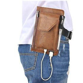 Bao da đựng điện thoại đeo hong tử 5inch - 5.5inch