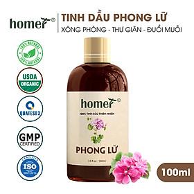 Tinh dầu thiên nhiên Phong Lữ Homer - Dung tích 20ml / 100ml - Đạt chuẩn kiểm định cao cấp - An toàn cho sức khỏe - Đa công dụng