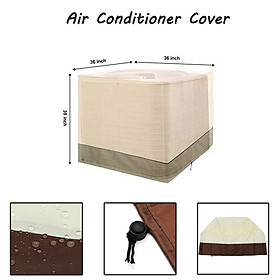 91x91x100cm Square Air Conditioner Protective Cover Waterproof Dustproof Durable