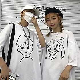 Áo thun cặp, áo đôi nam nữ tay lỡ form rộng ATL60