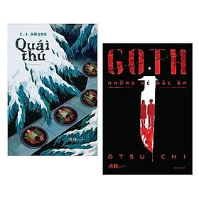 Combo 2 cuốn sách kinh dị hay : Quái thú + Goth những kẻ hắc ám - Tặng kèm Postcard HAPPY LIFE