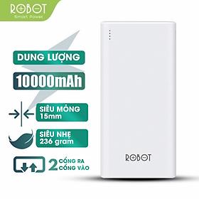 [[ KÈM VIDEO ]] - Pin Sạc dự phòng 10000mAh Robot - Cho di động/điện thoại Apple/iOS (iPhone/iPad), Android -RT170 - Hàng Chính Hãng