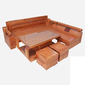 Sofa góc gỗ sồi  kim cương