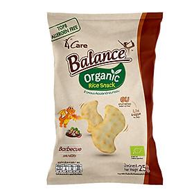 Bánh snack gạo hữu cơ vị BBQ 4Care Balance - 25g