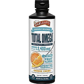 Barlean's Seriously Delicious Total Omega, Orange Crème, 16-oz