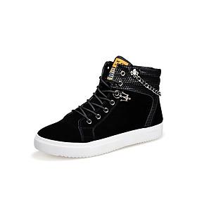 Giày nam cao cổ dây xích thời trang G09 đen