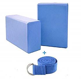 Combo 2 gạch tập và 1 dây yoga cotton