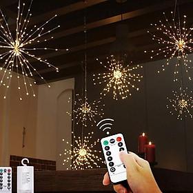[Mừng Năm Tân Sửu 2021] Đèn Phá.o Hoa Thả Treo Trang Trí Ngày Tết Kèm Điều Khiển Từ Xa Chớp Nháy 8 Chế Độ Sáng 1 Bông 120 Đèn 40 Dây - Điều Khiển Từ Xa