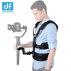 DF DIFITALFOTO THANOS Gimbal Stabilizer Supporting System with Dual-Spring Arm + Load Vest Compatible with DJI Ronin-S/