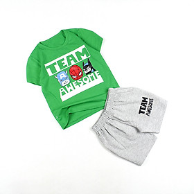 Bộ casual thun mặc thoải mái 0.5-5 tuổi tay ngắn in hình cho bé trai từ 6 đến 18 kg 04487-04485