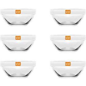 Bộ 6 Bát Chấm 24 Trơn Lotus Glass