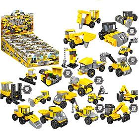 BỘ LEGO 10 MÓN CÁC PHƯƠNG TIỆN XE CỘ  SX52003