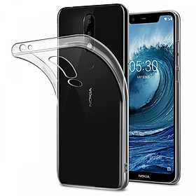 Bộ 2 ốp lưng silicone dẻo cho Nokia 5.1 Plus ( Nokia X5) trong suốt