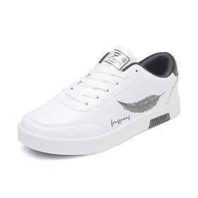 Giày Nam Thể Thao Sneaker Vải Dệt Cực Chất Đế Cao Su Nguyên Khối Siêu Êm Họa Tiết Lông Vũ CTS-GN026-7