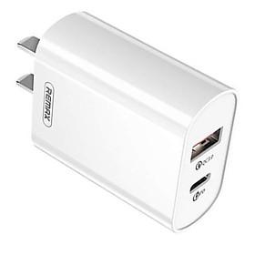 Củ sạc 2 cổng Type-C và USB cho iPhone / iPad hiệu Remax sạc nhanh chuẩn PD QC 3.0 (2 trong 1) - Hàng nhập khẩu