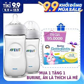 Bộ 2 bình sữa Mô phỏng tự nhiên bằng nhựa Philips Avent cho trẻ từ 6 tháng 330ml (SCF696/23)